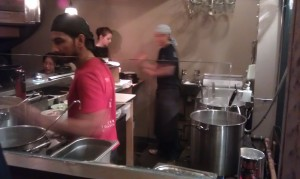 The kitchen at Tonkotsu, Soho