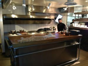View of the kitchen at Dishoom