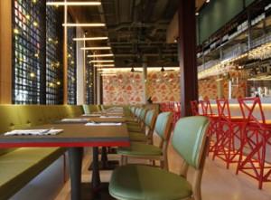 Interior of Naamyaa Cafe