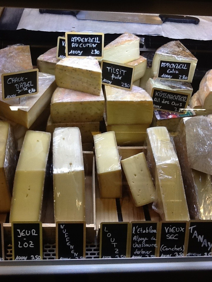 Cows milk cheeses at Fromagerie Bruand, Geneva
