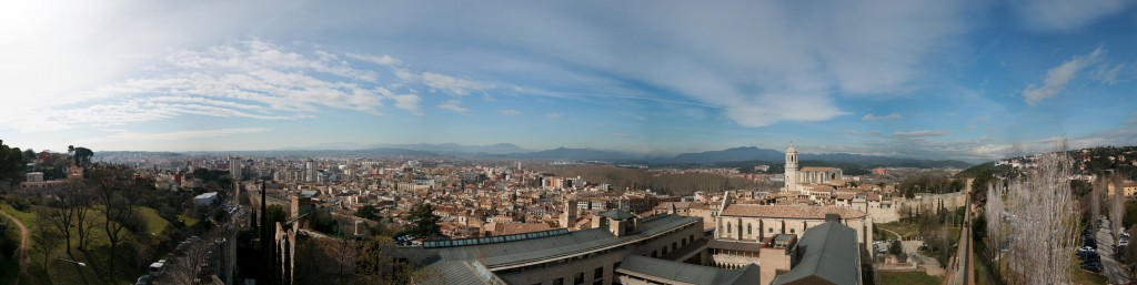 Girona panorama from the old city walls