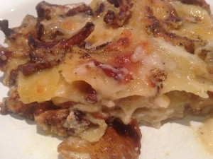Lasagne of chanterelles