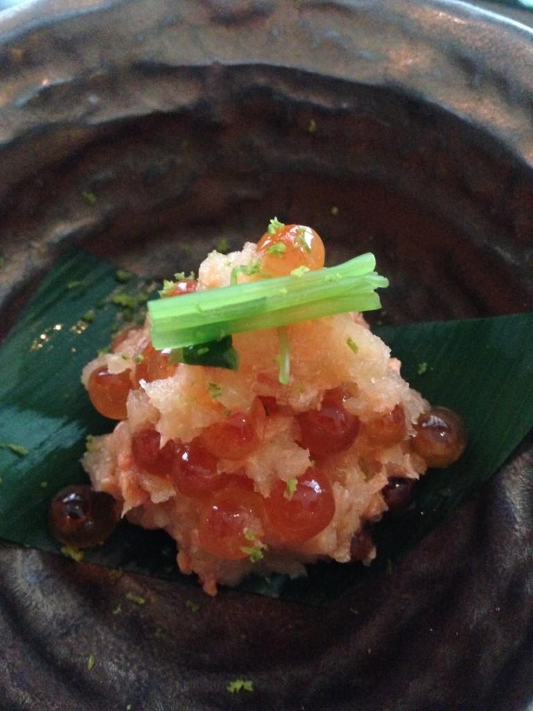 Sockeye salmon appetiser at The Shiori