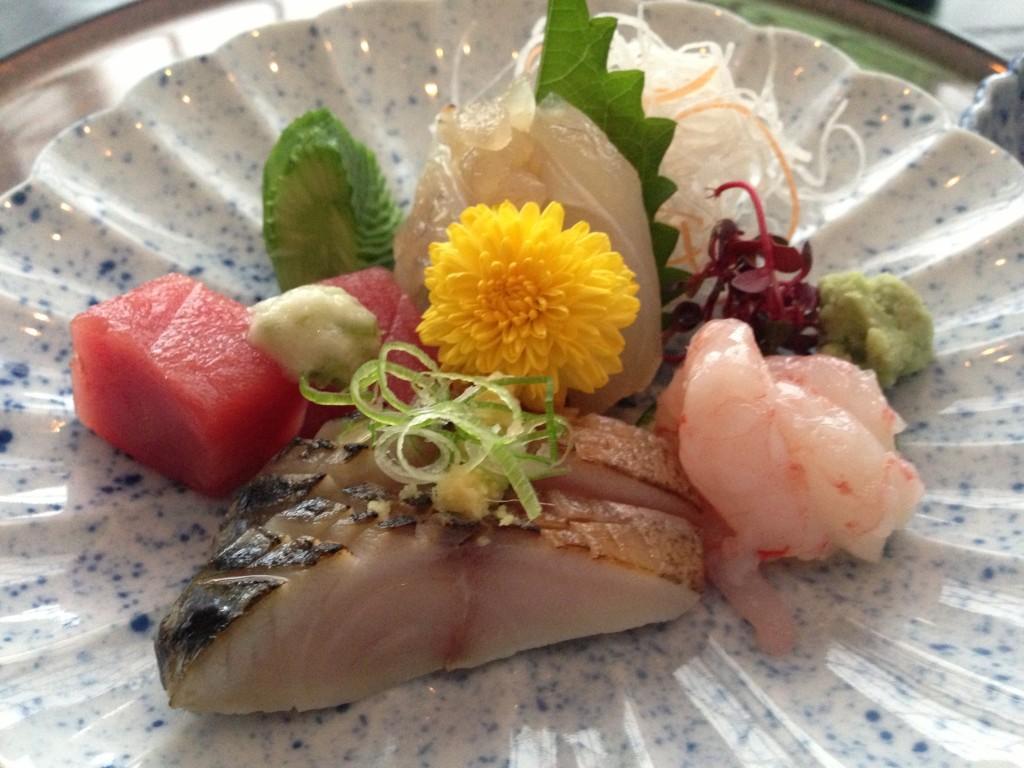 Sashimi course at The Shiori