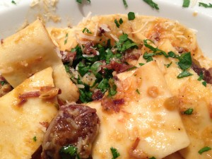 Beef shin ragu with pappardelle