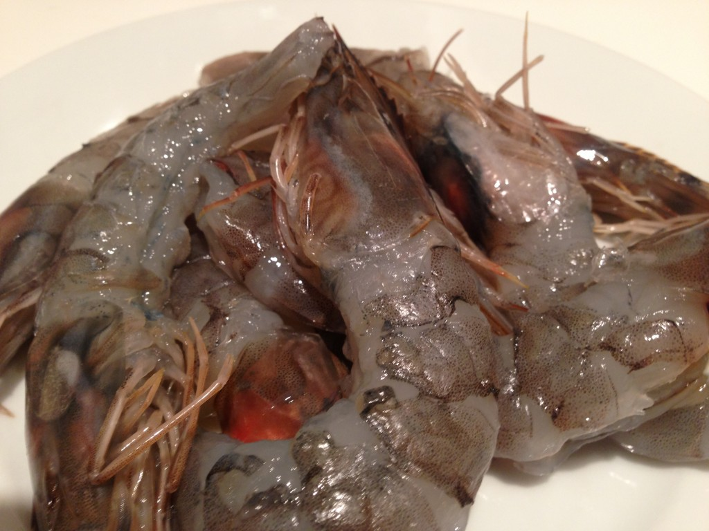 Peeled king prawns